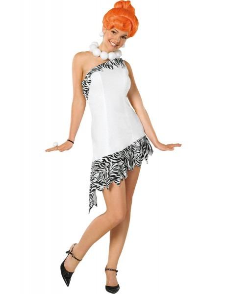 Deluxe Wilma Flintstone Adult Tv Fancy Dress Ladies Costume