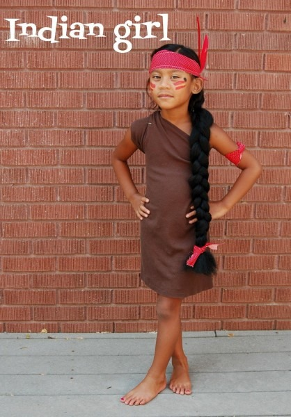 Diy Indian Girl Costume With Things You Already Have At Home