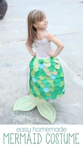 Homemade Mermaid Costume