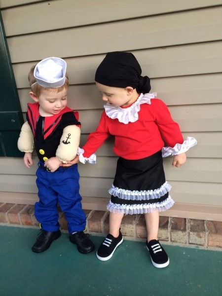 Popeye And Olive Oil Costume For Kids