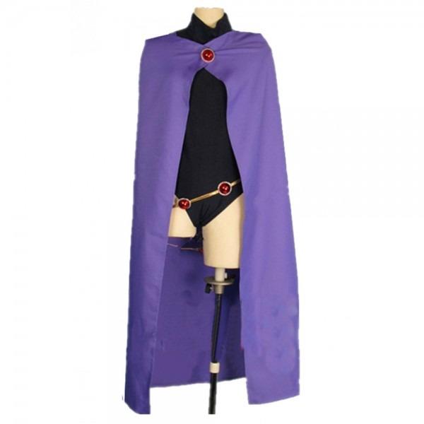 Dc Comics Superhero Teen Titans Raven Cosplay Costume Cape With