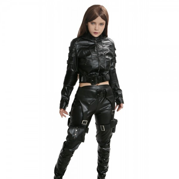 Black Canary Costume Black Pu Cool Cosplay Costume For Woman The