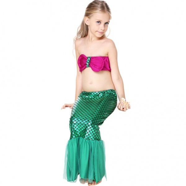 2018 Lovely Child Bikini Swimming Suit Swimmable Mermaid Tails