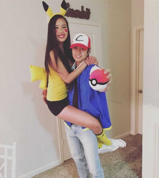 Ash And Pikachu Pokémon Couples Halloween Costume