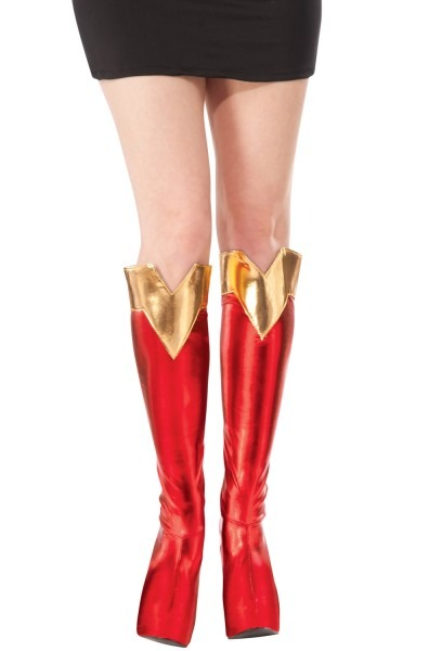 Dc Comics Supergirl Costume Boot Tops Shoe Covers Adult One