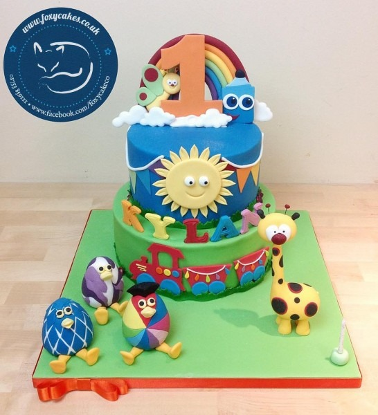 Baby Tv Cake And Characters!  Cake  Thefoxycakeco  Foxycak…
