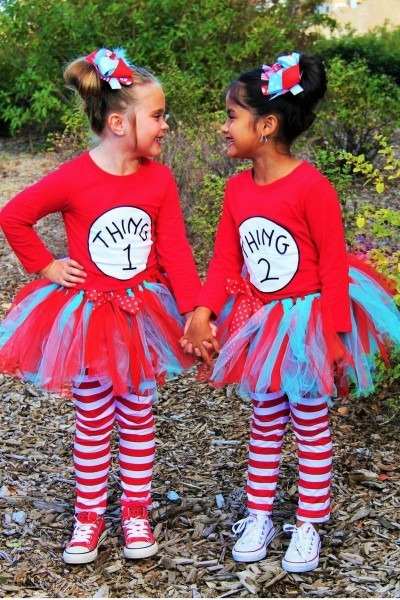 Thing 1 And Thing 2  Tutu Costumes