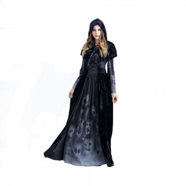 Halloween Black Medieval Witch Costume – Gadget Cheetah