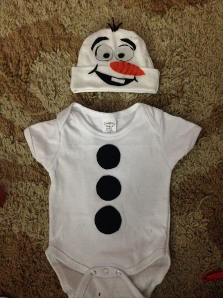 Diy Newborn  Olaf  Costume
