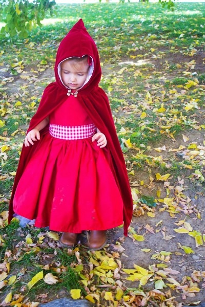 Diy  Little Red Riding Hood Costume Cloak 2t