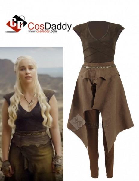 Game Of Thrones Queen Daenerys Targaryen Cosplay Daily Brown Dress