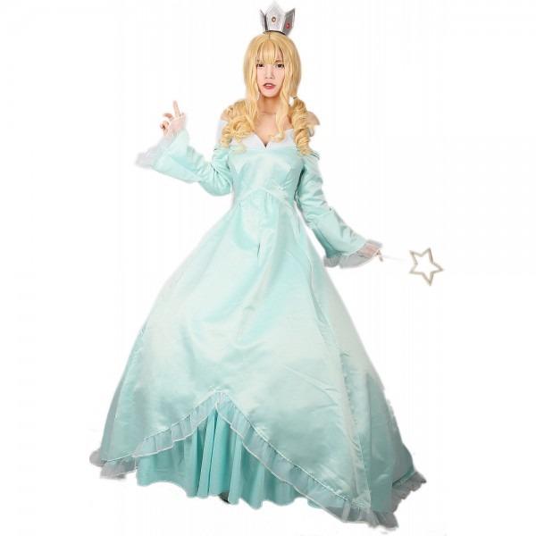 Xcoser Super Mario Princess Rosalina Cosplay Costume Elegant Aqua
