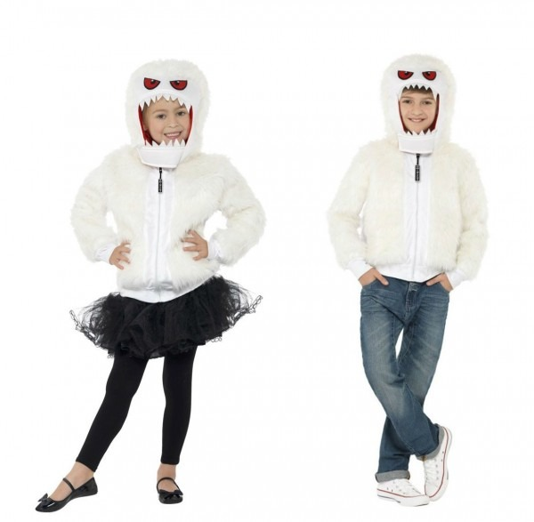 Childs Abominable Snowman Costume Monster Snow Man White Jacket