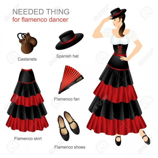 Needed Thing For Flamenco Dancer  Woman In Spanish Costume  Women