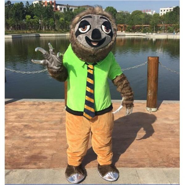 Cosplaydiy Unisex Mascot Costume Zootopia Flash Mascot Costume