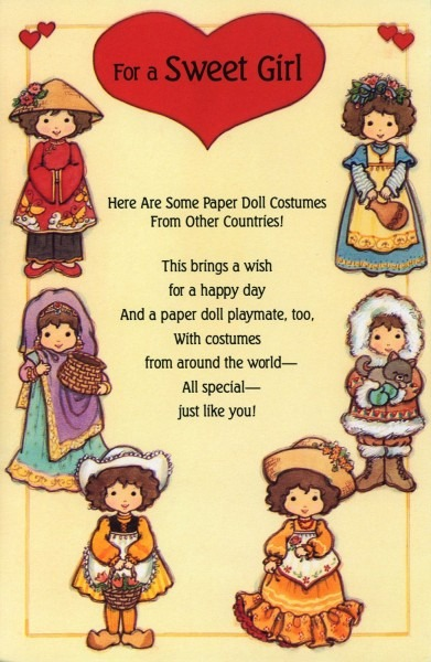 For A Sweet Girl ~~~ Paper Doll Costumes From Other Countries