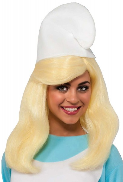 Amazon Com  Womens Smurfs The Lost Village Smurfette Wig Costume