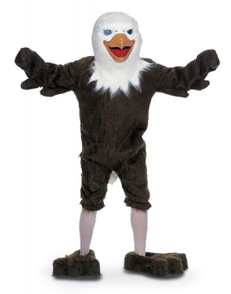 Amazon Com  American Eagle Mascot Costume & Latex Mask Adult One