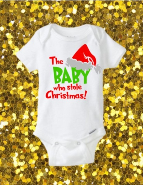The Baby Who Stole Christmas Onesie, Christmas Onesie, Funny