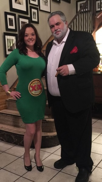 Dos Equis Man And Bottle Costume