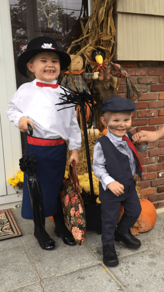 Mary Poppins And Chimney Sweep Toddler Halloween Costume