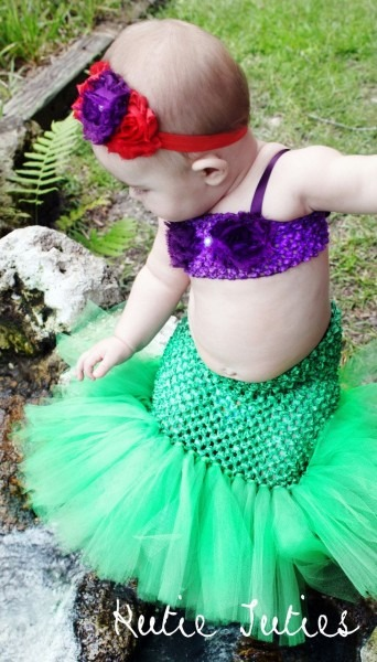 The Original Little Mermaid Tutu Dress Tail, Top, & Headband