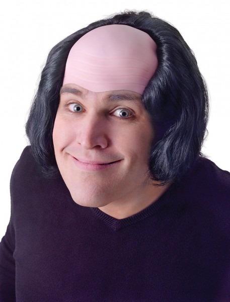 Gargamel Costume Bald Man With Black Hair Wig Creepy Old Man Monk