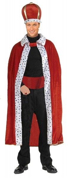 Amazon Com  Forum Novelties Men's King Robe And Crown, Green, One