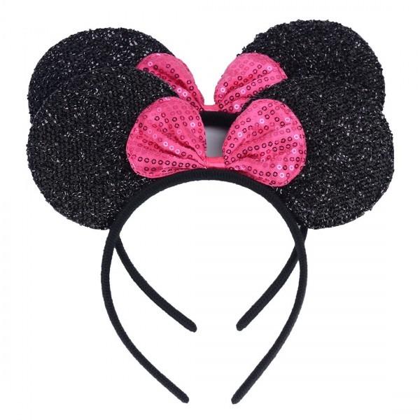 Amazon Com  Set Of 2 Mickey Minnie Mouse Ears Headband Boys Girls