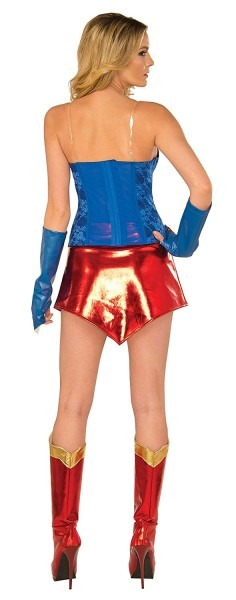 Amazon Com  Dc Comics Deluxe Supergirl Costume With Boot Covers