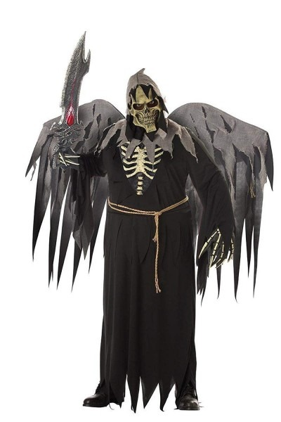 Amazon Com  Plus Size Gruesome Angel Of Death With Wings Costume