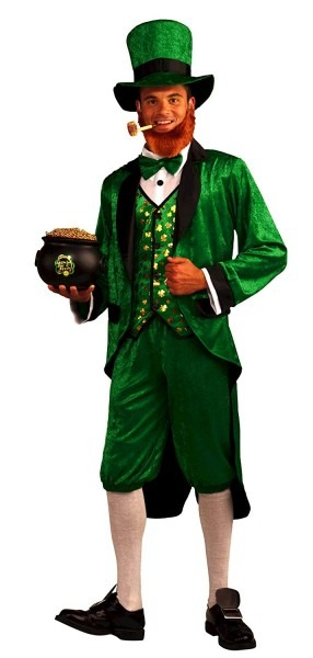 Amazon Com  Forum Mr Leprechaun Costume, Green, Adult  Clothing