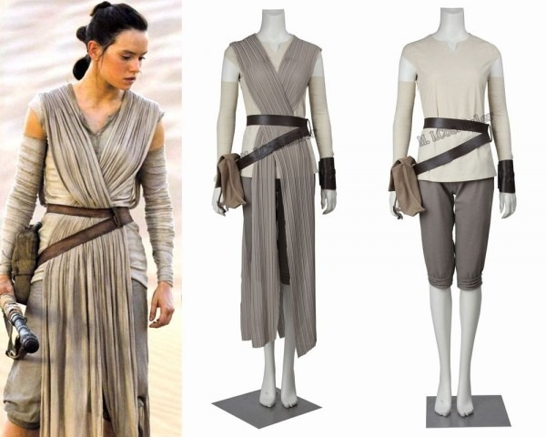 Hot 2016 Star Wars Costume Adult The Force Awakens Rey Cosplay