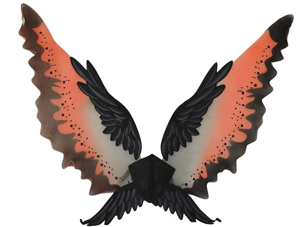 Amazon Com  38in Eagle Wings (orange Black) Adult Accessory  Clothing