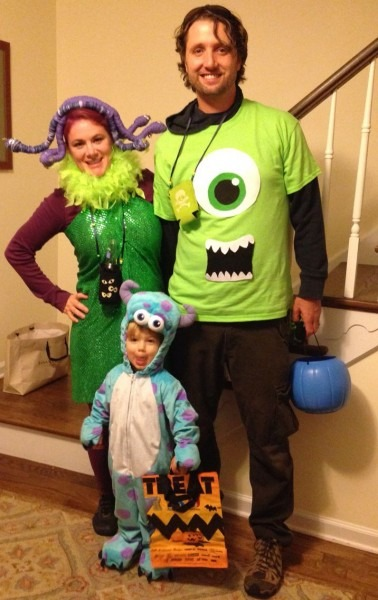 Halloween Couple   Family Costume Monsters Inc Costumes Sully