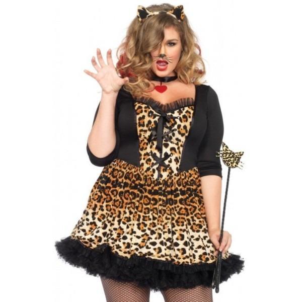 Wildcat Womens Plus Size Cat Costume