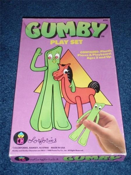 Vintage 1988 Gumby Pokey Colorforms Play Set  722 Prickle Goo
