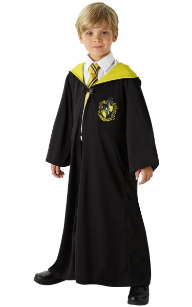 Kids Boys Childs Hufflepuff Robe Fancy Dress Costume Outfit Harry