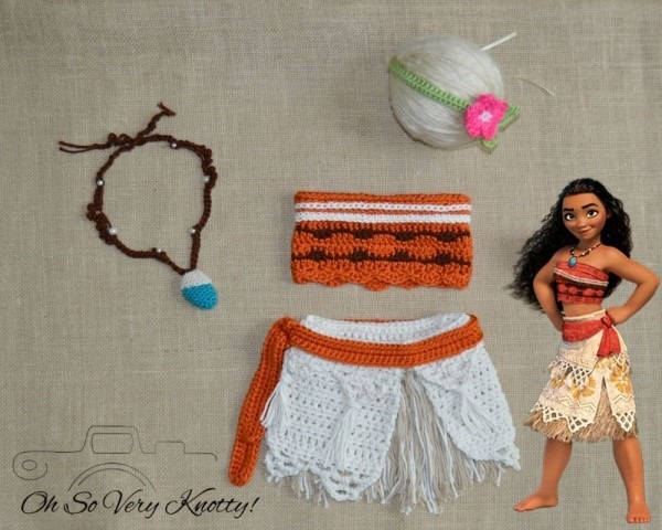 Disney's Moana Outfit, Moana Costume, Photo Prop Newborn, Baby