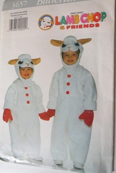 Amazon Com  Butterick Pattern 3657 Shari Lewis Lamb Chop Costume
