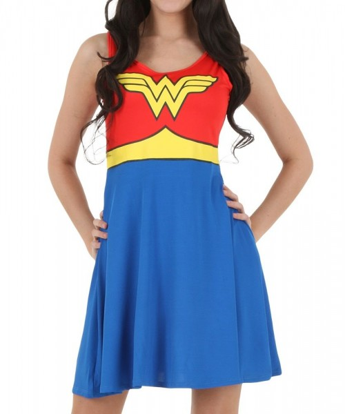 Dc Comics Wonder Woman Scoop Neck Dress