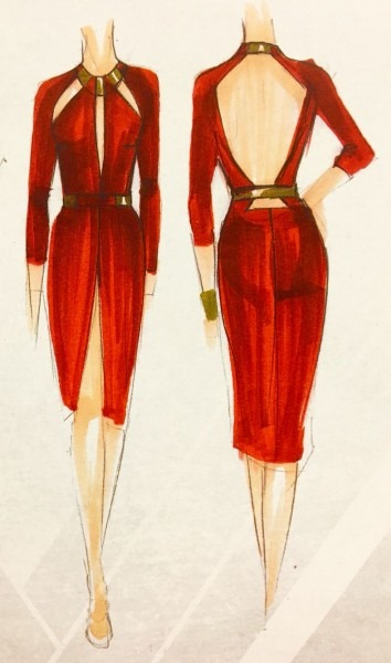 Concept Art Of A Cocktail Dress For Wonder Woman   Diana Prince