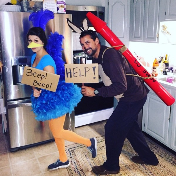 Looney Tunes Roadrunner And Wile E  Coyote Halloween Costume