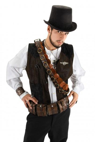 Brown Steampunk Top Hat
