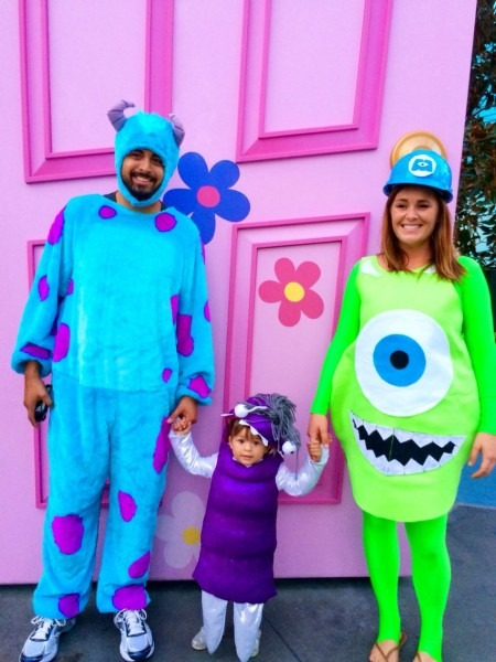 Our Family's Halloween Costumes! Mike Wazowski, Sully And Boo From
