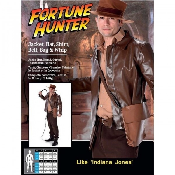 Ca562 Fortune Hunter Indiana Jones Movie Archaeologist Adventurer