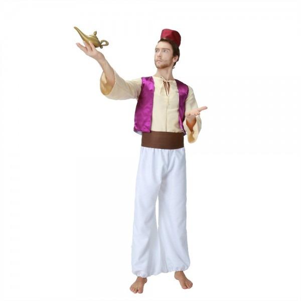 Adult Men Aladdin Magic Lamp Prince Aladdin Costumes Purple Vest