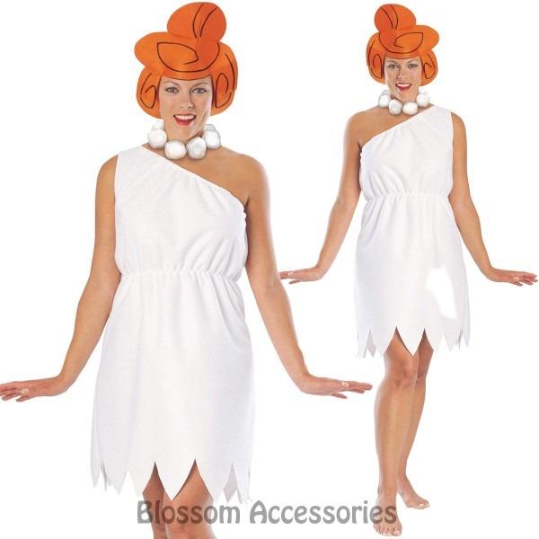 Cl531 Womens Wilma The Flintstones Flintstone Fancy Dress Party