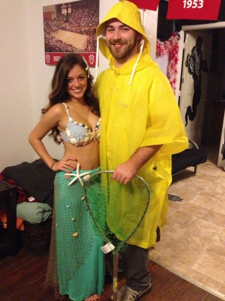 Mermaid And Fisherman Costume!