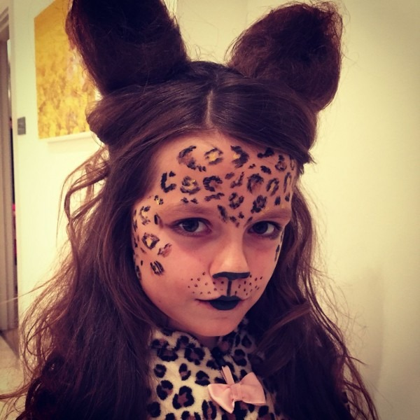 Halloween Kids Children Dress Up Costume Cheetah Big Cat Make Up